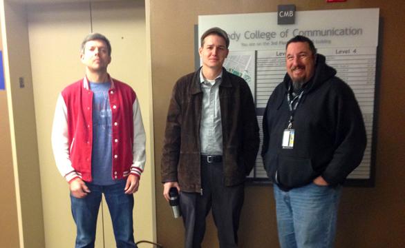 KLRU-CWA Bargaining Committee (l-r) Jay Malecki, Seth Hutchinson, Rob Marley