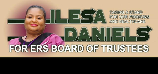 Get Ilesa Daniels on the ballot!  Download the nominating petition! Before we can elect TSEU's candidate, Ilesa Daniels, to the ERS Board, we must get her on the ballot. DOWNLOAD...