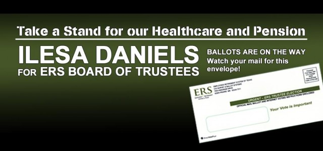 Today, March 6, ballots are being mailed by ERS to the homes of all state agency employees and retirees for the 2015 ERS Board of Trustees election. Be sure to...