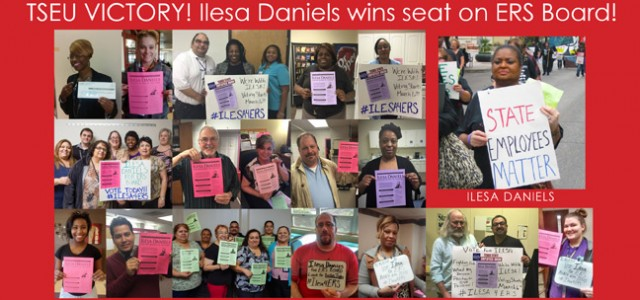 [May 7, 2015] Yesterday, the Employees Retirement System (ERS) announced that Ilesa Daniels, TSEU activist and HHSC employee with over 24 years of service, won the election to serve on...